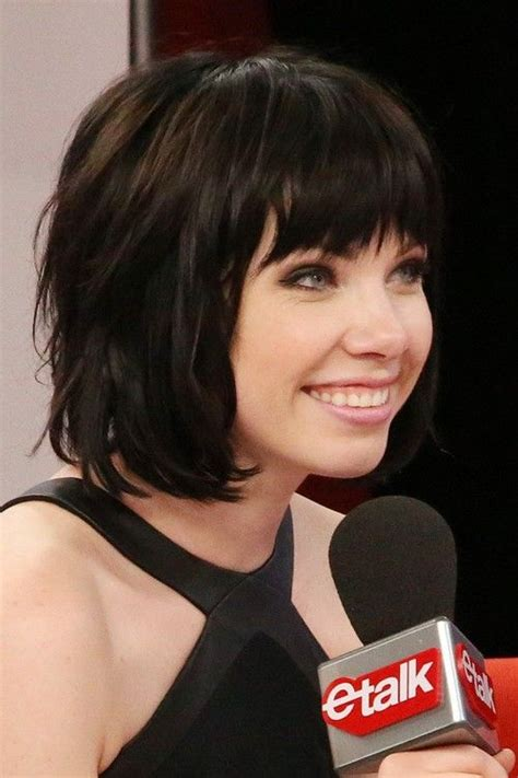 carly rae jepsen hairstyle back 25 best ideas about layered bob with bangs on pinterest