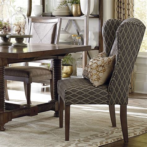 fabric winged dining chair alden