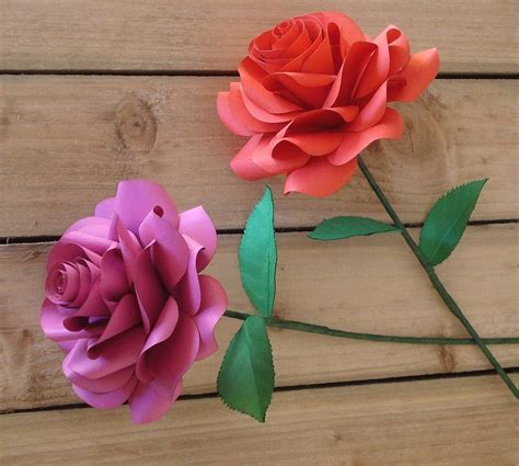 How To Make Paper Roses With Stems - single stem paper by suzi mclaughlin