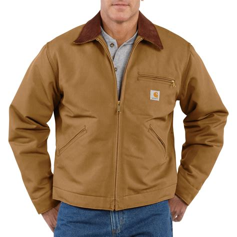 carhartt coat carhartt s duck detroit blanket lined jacket model j001 northern tool equipment