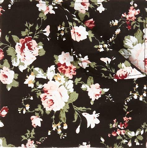 Floral Print Tie lyst river island black floral print pocket square black