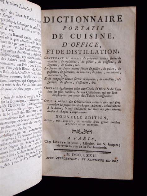 dictionnaire cuisine anonyme dictionnaire portatif de cuisine d office et