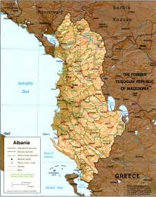 Albania Map In Europe by Map Albania