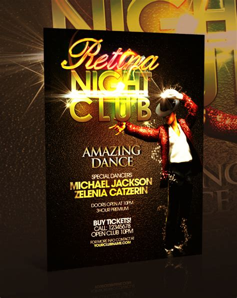 nightclub flyer template psd by retinathemes on deviantart
