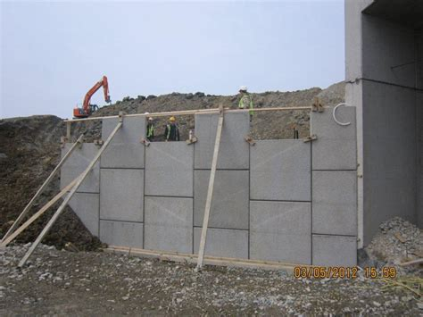 precast retaining walls precast concrete retaining walls uk bancrete