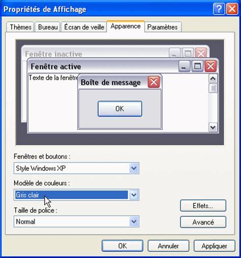 changer de modle pc astuces changer de modle de couleurs windows xp