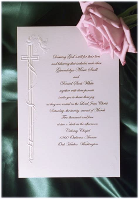Wedding Invitation Wording Wedding Invitation Wording Religious Sles Religious Wedding Invitation Templates