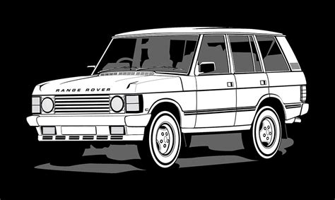 land rover defender vector illustration range rover classic creative surge