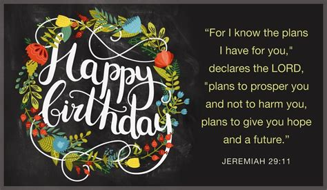 Happy Birthday Bible Quotes Free Happy Birthday Jeremiah 29 11 Ecard Email Free