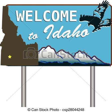 Home Plans Oklahoma Eps Vector Of Welcome To Idaho Road Sign Welcoming