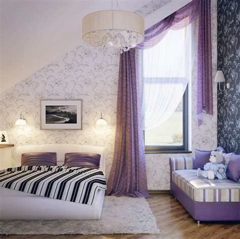 cute room colors lilac white black girls room interior design ideas