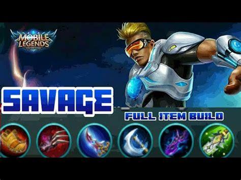 bruno savage full item build mobile legends youtube