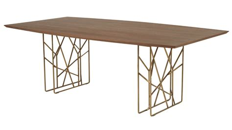 dining table with gold legs modern decca dining table walnut antique gold legs