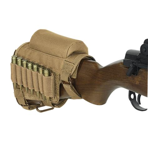 Ammo Cheek Pad voodoo tactical adjustable cheek rest with ammo carrier ebay