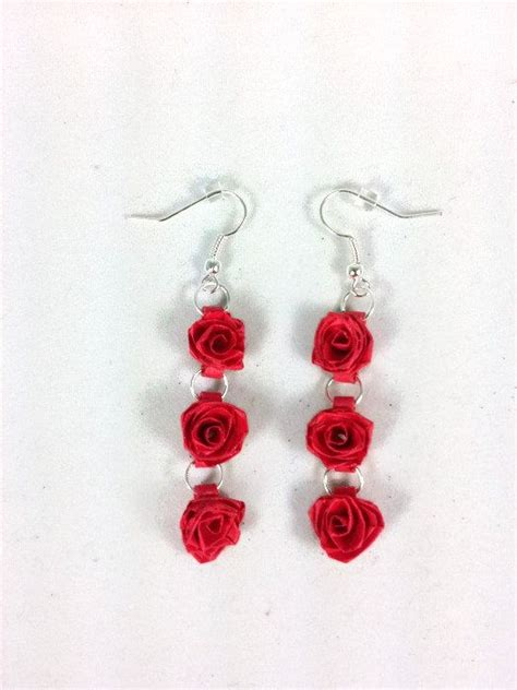 paper quilling rose earrings tutorial 552 best quilling jewelry images on pinterest quilling
