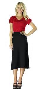 knit a line skirt modest midi skirts in black