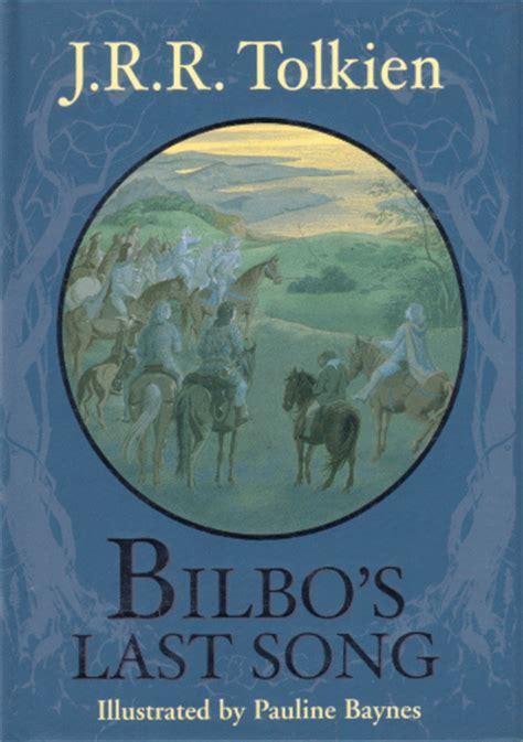 bilbos last song 0091884888 tolkienbooks net bilbo s last song 2002