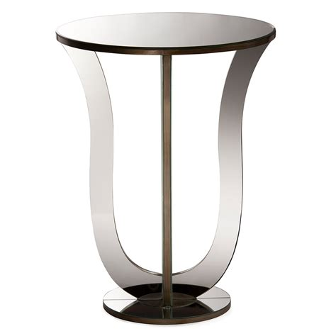 furniture side table balmoor liquor baxton studio mirrored accent side table