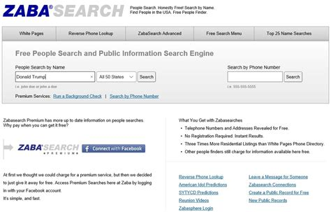 Zapa Search Zabasearch Helps You To Locate Find Out How