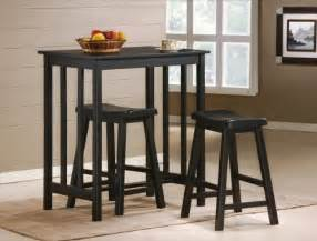 Kitchen Bar Stools And Table Sets Get 3 Black Finish Table Saddle Bar Stool Set Kitchen 24