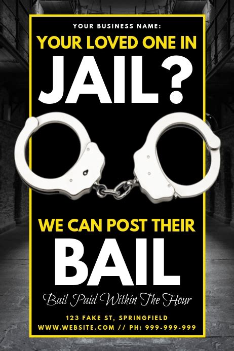 jail bonds poster template postermywall