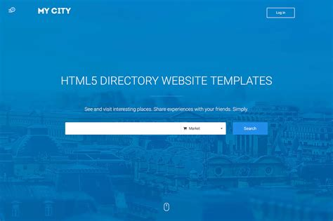 search page template top 18 responsive html5 directory website templates 2017