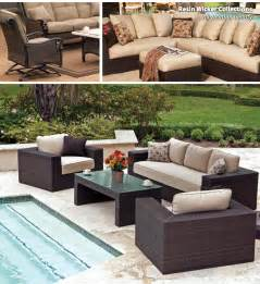 wicker patio furniture staying firm and holding steady
