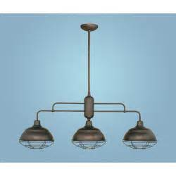 Outdoor Island Lighting Neo Industrial Rubbed Bronze Three Light Island Pendant Millennium Lighting Outdoor Pendan