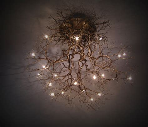 tree branch ceiling light fixture tree root chandeliers natural tree