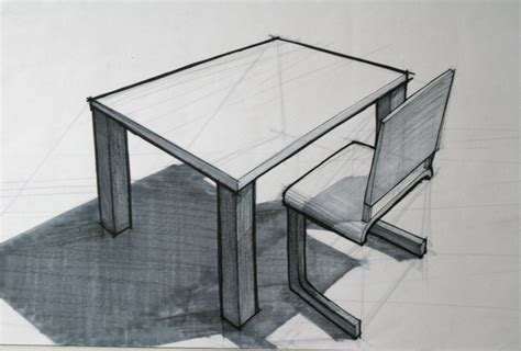 sketchbook grey paper table and chair sketch cale