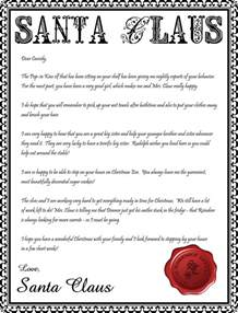 Printable Santa Claus Letter Template Santa Letter Printable New Calendar Template Site