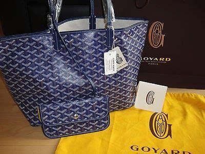 St Darki Navy goyard st louis pm shopper tote blue navy 100