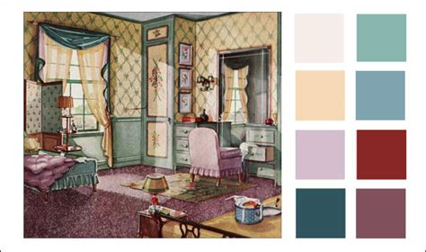 1930s bedroom 1930s color scheme 1930 green buff and lavender bedroom armstrong linoleum