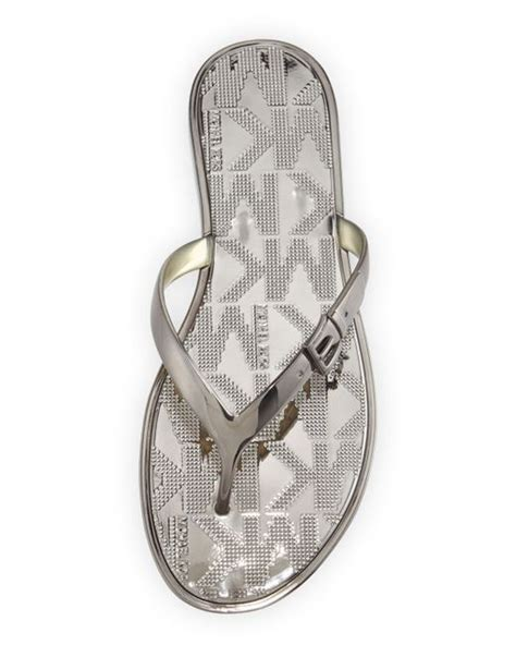 Flatshoes Emory Import 1 michael michael kors emory buckle flat sandal in metallic save 32 lyst