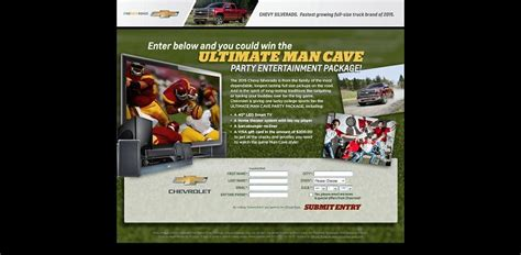 Man Cave Sweepstakes - chevymancave com chevy man cave party sweepstakes