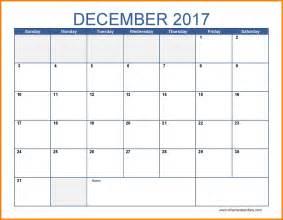 Calendar December 2017 10 Free December 2017 Calendar Lease Template