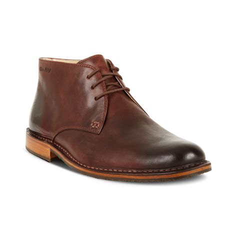 boots shoes for sebago tremont chukka boots in brown for lyst