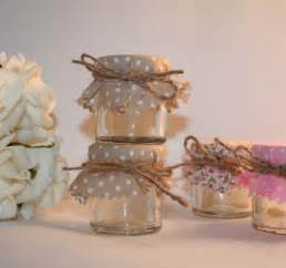 Small Jam Jars For Wedding Favors by Min Jam Jar Wedding Favours In Beige Polka Dot Fabric