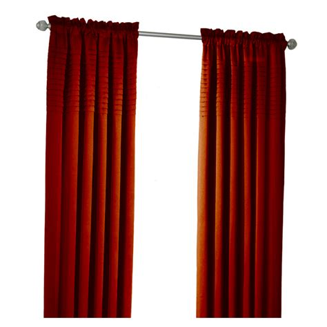 allen roth curtain panels shop allen roth lincolnshire 63 in l solid red rod