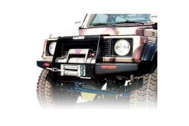 calmini mfg. suzuki samurai c3 front winch bumper in black