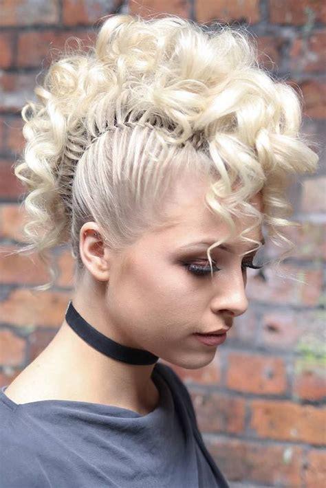 girly braided mohawk ideas     trends