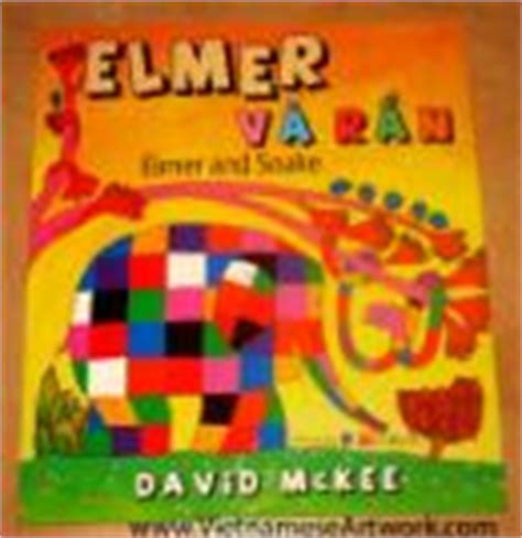 elmer and snake children pictures books bilingual books vietnamese english