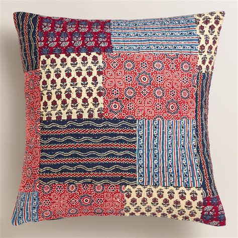 Blue Patchwork Throw - and blue patchwork throw pillow world market
