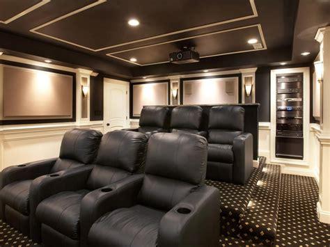 theater room   level tiered floor  black