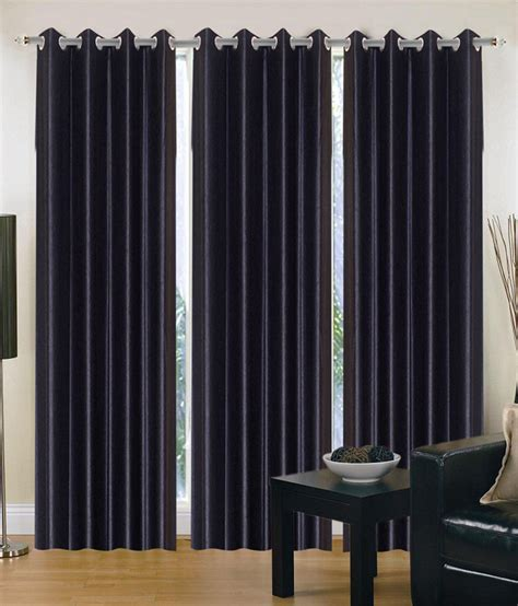 Hargunz Black Set Of 3 Curtain 9 Ft Buy Hargunz Black