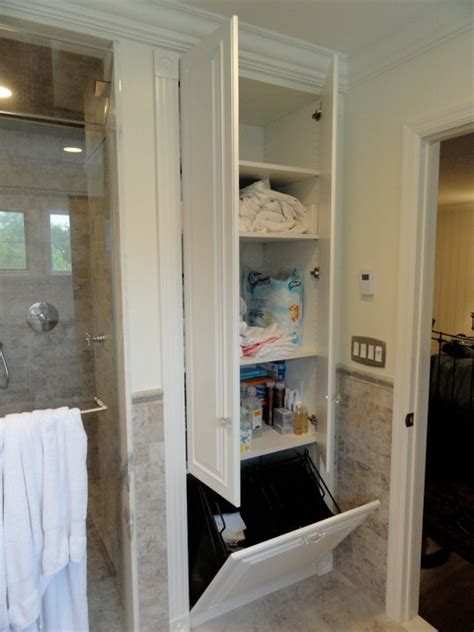 closet bathroom ideas linen closets bathroom cabinets traditional bathroom new york by andrea gary of