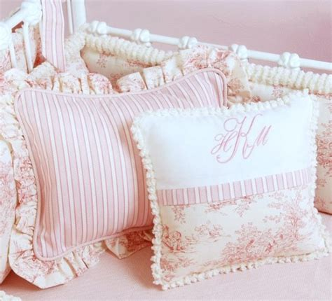 Pink Toile Crib Bedding by Pink Toile Crib Bedding By Doodlefish Love This For A