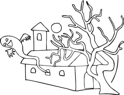 easy coloring pages for halloween easy halloween coloring sheets haunted house easy