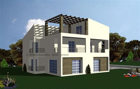 autocad 3d house modeling tutorial 4 3d home design country house in greece autocad 3d cad model grabcad