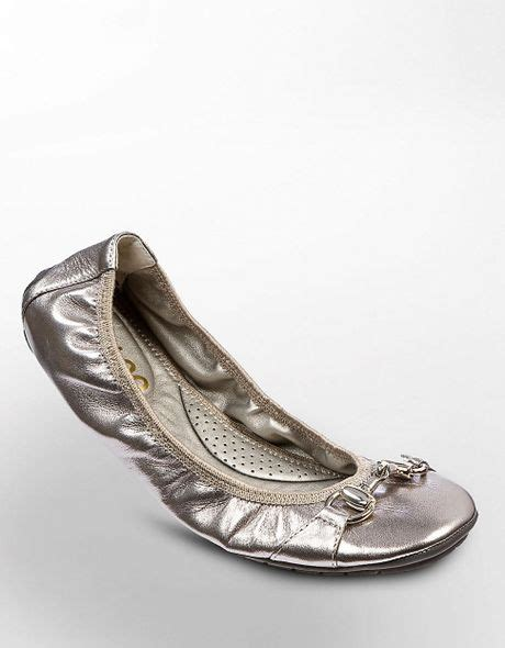 me shoes legend flats me legend leather flats in silver pewter met lyst